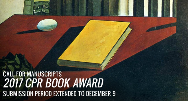 2017 CPR Book Award – Submission Deadline Extended