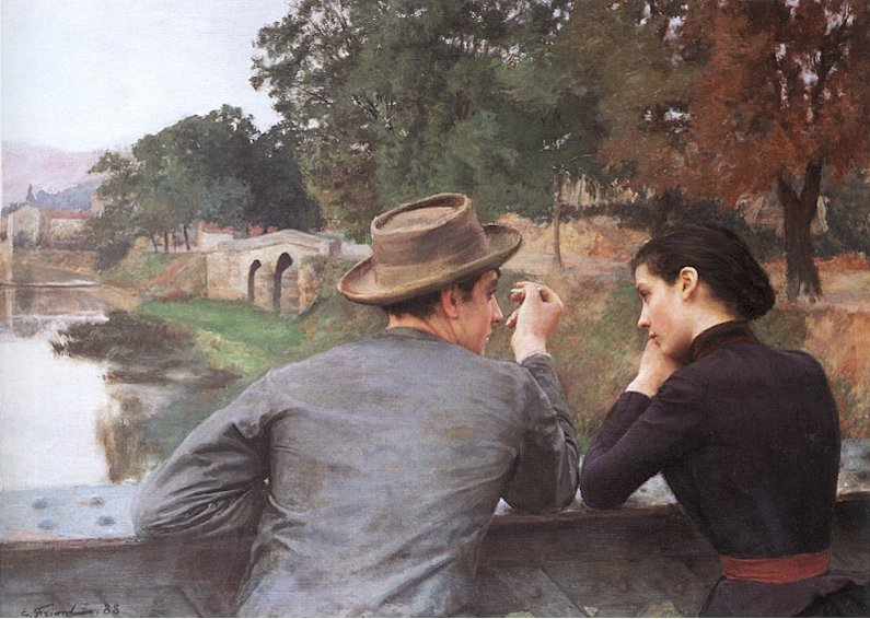 Emile Friant Les Amoureux