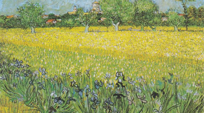 "To the Miscarried Child, Van Gogh's ""Irises"" At Arles <br /><small>by Mary Moore</small>"