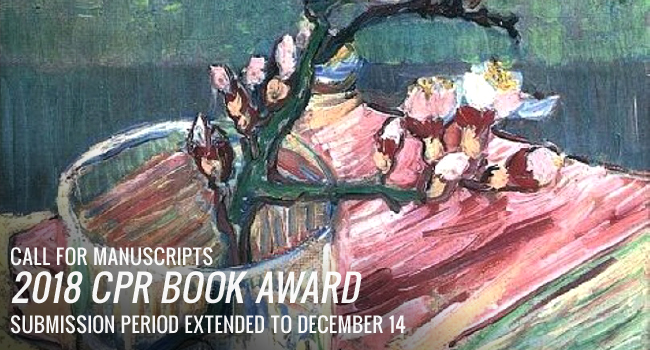 The 2018 CPR Book Award is Accepting Manuscript Submissions