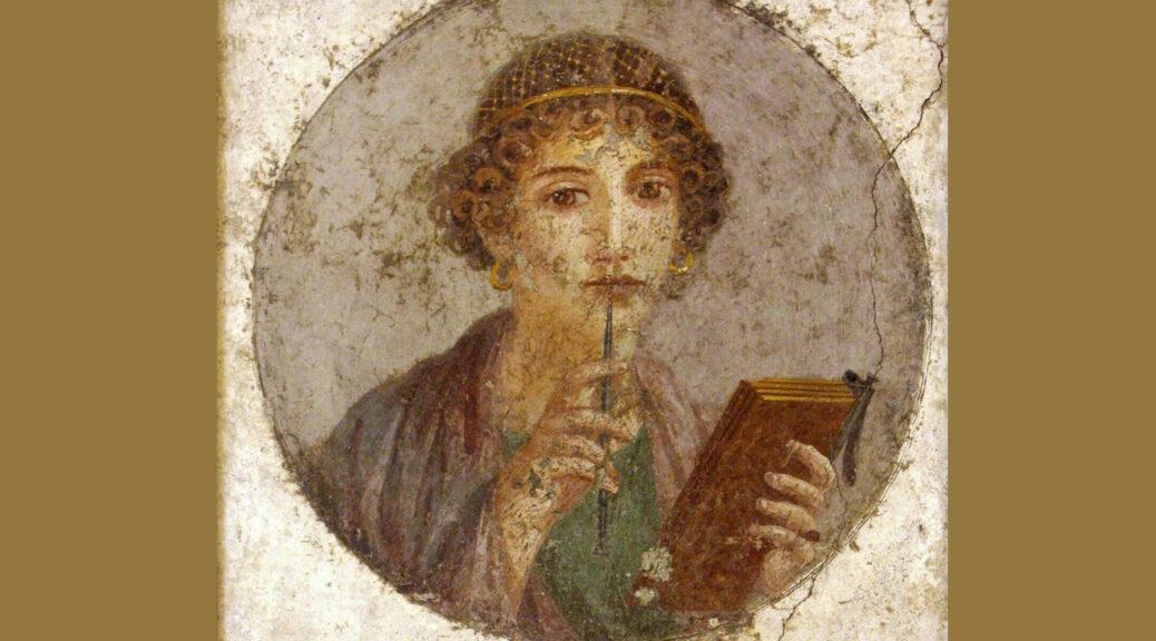 """Donna con tavolette cerate e stilo (cosiddetta """"Saffo"""")"""